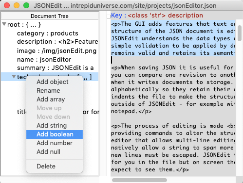 Free JSON Editor for Windows, MacOS and Linux